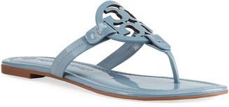 Tory Burch Miller Logo Patent Flat Thong Sandals