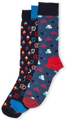 Happy Socks 3-Pack Pretzel Sock Gift Set