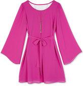 Amy Byer Girls' Crochet-Back Dress