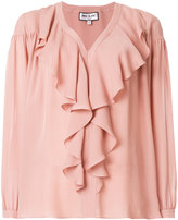 Paul & Joe ruffle front blouse