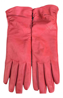 Non Signã© / Unsigned Red Leather Gloves