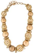 Oscar de la Renta Ball Bead & Chain Necklace