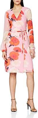 Gestuz Women's Violetta wrap dress Knee-Length Cocktail Long Sleeve Dress