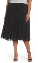Alex Evenings Plus Size Women's Chiffon Midi Skirt
