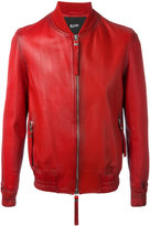 Blood Brother Guard bomber jacket - men - Cotton/Lamb Nubuck Leather - S