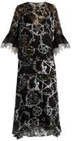 Preen by Thornton Bregazzi Adora pentacle-print devoré dress