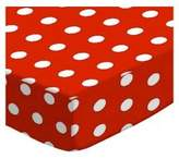 SheetWorld Fitted Pack N Play (Graco Square Playard) Sheet - Polka Dots - Made In USA - 36 inches x 36 inches ( 91.4 cm x 91.4 cm)