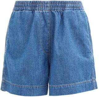 Ganni High-rise Denim Shorts - Denim