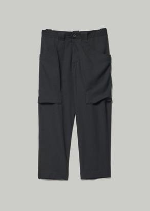 Yohji Yamamoto Women's Gabardine Big Pocket Drop Crotch Pant in Black Size 2