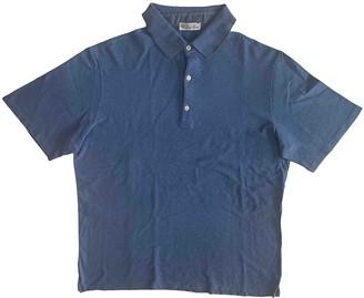 Loro Piana Blue Cotton Polo shirts