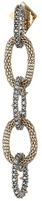 Alexis Bittar Crystal Encrusted with Mesh Link Dangling Post Earrings (Gold) Earring