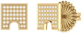 Lmj City Arches Stud Earrings In 14 Kt Yellow Gold Vermeil On Sterling Silver