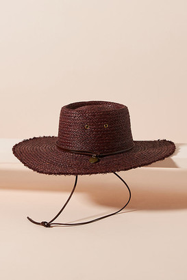 Frye Classic Raffia Boater By in Brown Size M/L