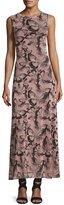 Fuzzi Sleeveless Butterfly-Print Maxi Dress, Pink Multi