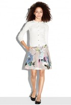 Milly Minis Paper Floral Pleated Skirt
