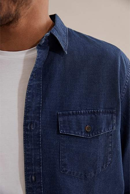 Country Road Regular Indigo Gingham Shirt