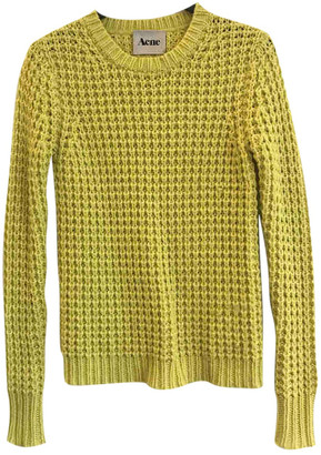 Acne Studios Yellow Wool Knitwear