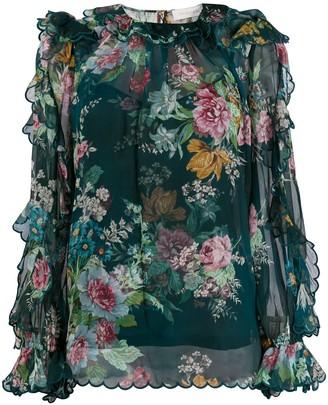 Zimmermann Daphner floral-print chiffon blouse