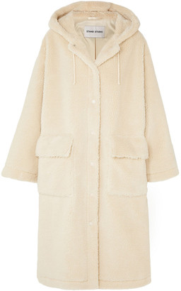 Stand Studio Jessica Oversized Faux Shearling Hooded Coat