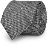 Reiss Kesher - Polka Dot Silk Tie in Silver