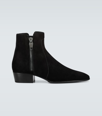 Balmain Anthos suede ankle boots