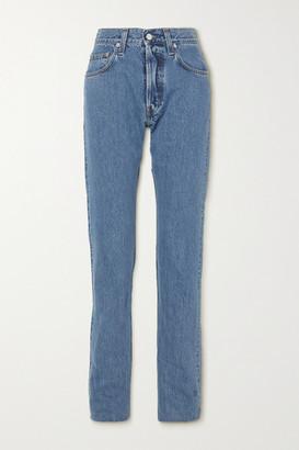 Helmut Lang Masc Hi High-rise Straight-leg Jeans - Light denim