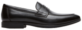 Rockport Style Connected Penny Loafers, Black
