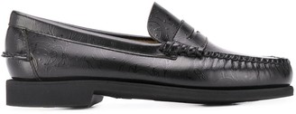 Societe Anonyme x Sebago graphic patterned low heel loafers