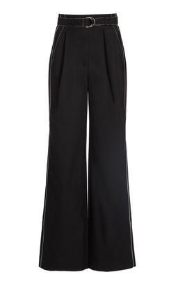 Proenza Schouler White Label Belted Wide-Leg Pants