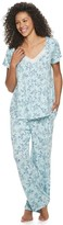 Croft & Barrow Women's Pajama Top & Pajama Pants Set