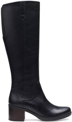 Clarks Collection By Hollis Moon Leather Knee-High Boots