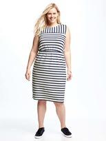 Old Navy Striped Jersey Easy-Waist Plus-Size Dress