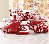 Coral Jacquard Bath Towels