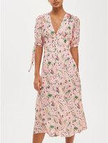 Topshop Floral-print crepe dress