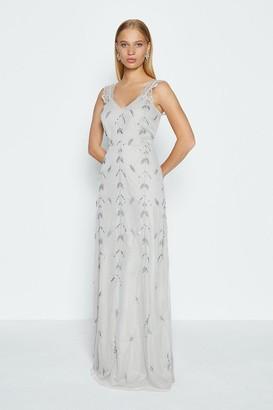 Coast Lace Strap Embellished Maxi Dress
