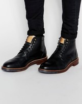 Ben Sherman Lace Up Boots - Black