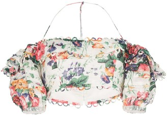 Zimmermann Allia floral off-the-shoulder top