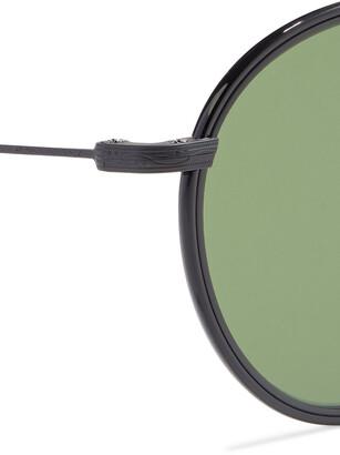 Oliver Peoples Ellice Round-frame Titanium Sunglasses