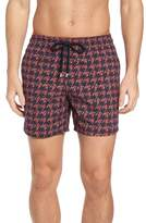 Vilebrequin Moorea Fish Foot Print Swim Trunks