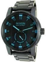 Nixon A937-2224 Patriot Men's Black Steel Bracelet With Black Analog Dial NWT