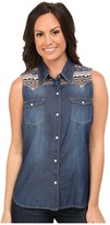 Roper 9751 5 Oz Denim Sleeveless Shirt