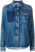 Valentino studded pocket denim jacket - women - Cotton - 44