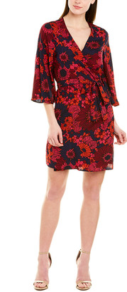 Julie Brown Silk Wrap Dress