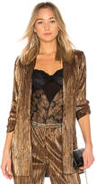 House Of Harlow x REVOLVE Lee Jacket in Metallic Bronze. - size L (also in M,S,XL,XS,XXS)
