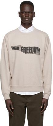 Schnaydermans Beige Boxy Freedom Sweatshirt