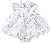 Little Me Baby Girls 3-24 Months 3-Piece Fancy Floral Sateen Dress Set