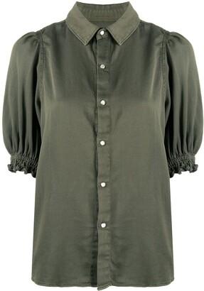 BA&SH Buttoned Up Smocked Cuff Shirt