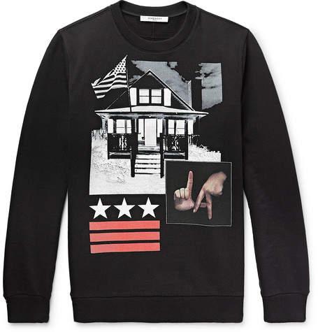 Givenchy Cuban-Fit Printed Fleece-Back Cotton-Jersey Sweatshirt