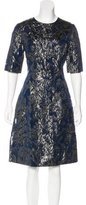 Lela Rose Metallic A-Line Dress w/ Tags