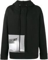 Raf Simons American flag hoodie - men - Cotton - XS